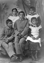 Five Osage students, c.1883