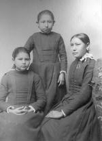 Lydia Gardner, Nannie Little Robe, and Ethel Black Wolf, c.1890