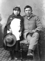 Mary Paisano and Willie H. Paisano [version 2], c.1885