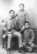 Jasper Kanseah, Alfred Eateh, and Joseph Ezhuna [version 2], c.1887