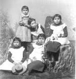 Five young female students, c.1889