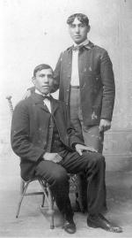 Elias Cekiya and an unidentified young man, c.1898