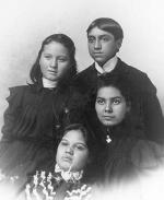 Bessie Nick, Chiltoski Nick, Minnie Nick, and Hattie Woodfire, c.1897