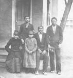 Five Sioux students shortly after their arrival, c.1879