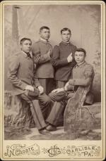 Four Male Students in Military Uniform, c.1885