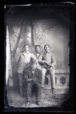 Four unidentified male students #1, c.1885