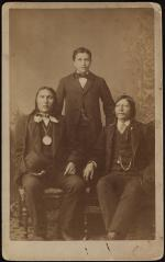 Standing Bear, Luther Standing Bear, and Red Fish, c. 1882