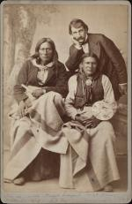 Tso-de-aiko, Wild Horse, and Interpreter, c.1880