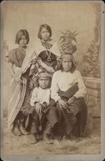 Four Pueblo Children from Zuni, New Mexico, c.1880