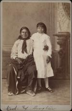 Grace Cook with her father [version 2], c.1880