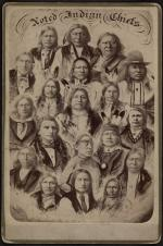 Indian Chiefs who visited the Carlisle Indian School, #1, c.1881