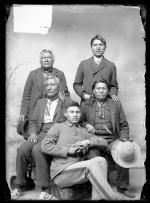 Group including William Crazy Bull, Chief Little Wagon, and Chief Big Roads, c. 1891