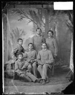 Six male Osage students [version 1], c.1881