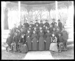 Large group of students with two white women, c.1894