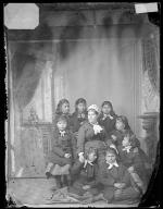 Teacher Mary Hyde and eight female students [version 1], c.1880