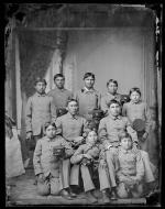 Ten male Cheyenne students [version 1], 1880