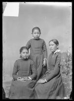 Lydia Gardner, Nannie Little Robe, and Ethel Black Wolf [version 1], c.1890