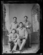 Four unidentified male students #2, c.1885