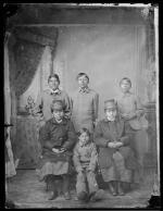 Six unidentified students, c.1885