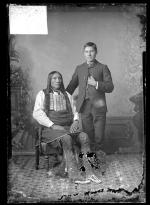 Visiting chief with male student, c.1885