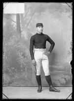 Jenoson Schanadore in athletic clothing, c.1889