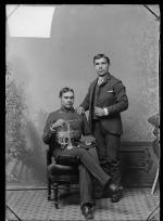 Charles Redmore and an unidentified young man, c.1888