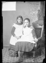 Emily Ross and Cecilia Londrosh, c.1884