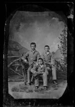Three unidentified male students #3, c.1885