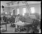 Students working in the print shop (right side), c.1885