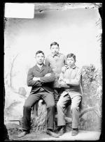 Thomas Schanandore, Adam Metoxen, and James Wheelock, c.1889
