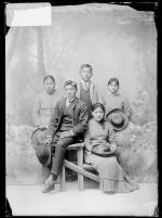 Five unidentified students, c.1885