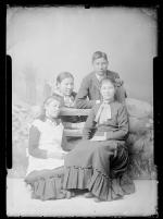 Four unidentified students, c.1885
