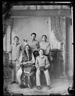 Visiting chief with four male students, c.1881