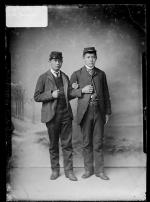 Justin Head and Donald Water, c.1886