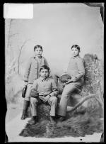 Malcolm Clark, Edward Clark, and Elmer Simon, c.1891