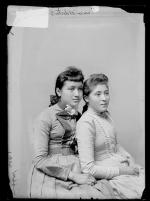 Lena Webster and Veronica Holliday, c.1890