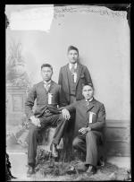 Alexander Manabove, Albert Sitting Eagle, and John Runninghorse [version 1], c.1892