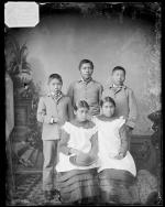 Five Nez Perce students [version 1], c.1883