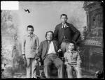 Visiting chief with three male students, c.1885