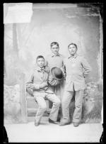 Three unidentified male students, c.1885