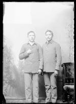Patrick Bitter and an unidentfied male student, c.1886