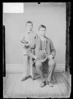 Frank Hudson and Clarence White Thunder, c.1886