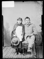 Mary Paisano and Willie H. Paisano [version 1], c. 1885