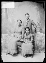 Dexter Loco, Mabel Kelcusay, and Rachel Checote, 1884