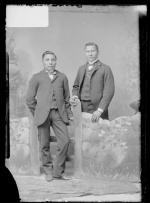 Mack Kutepi and an unidentified young man, c.1884