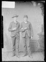 Joseph Schweigman and an unidentified young man, c.1885