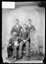 Herbert Good Boy, Robert Horse, William Crazy Bull, and Charles Smith [version 1], c.1892