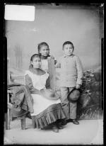 Candelaria Quintana, Josefeta Montoya, and Jose Maria Perez [version 1], c.1884
