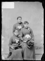 Sarah Ninham, Melinda Thomas, and Marian King, c.1890