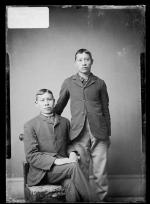 Clarence Powder Face and an unidentified young man, c.1884
